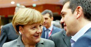 Tsipras - Merkel